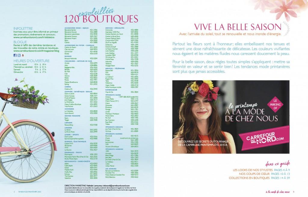 Guide Shopping Printemps 2015 - Carrefour du Nord